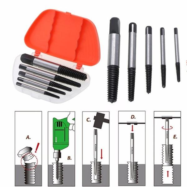 5Pcs Screw Extractor Center Drill Bits - Nestzones