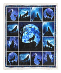 Wolf Throw Blanket TABTVH1410271