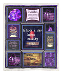 A Book A Day Keeps Reality Away Throw Blanket PKT240601