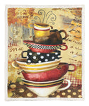 A Cup Of Coffee Throw Blanket CCC25104872