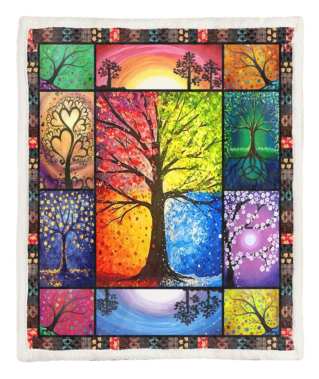 Tree Of Life Throw Blanket TABTVH1410263