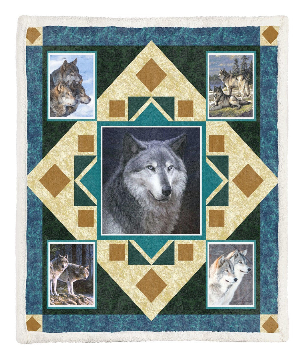 Wolf Throw Blanket TABCCC19101952