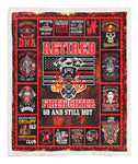 60 Retired Firefighter Personalized Throw Blanket BBB030623SM