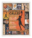 A Basketball Player Than A Girl Throw Blanket CCC2610855