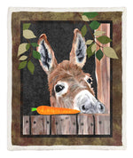 Donkey Throw Blanket HM250612