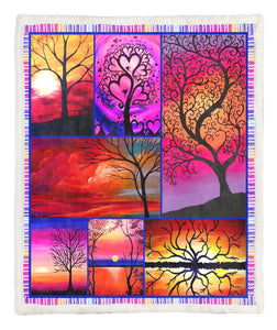 Tree Of Life Throw Blanket TABTVH1410245