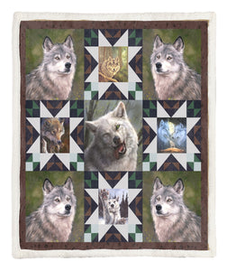 Wolf Throw Blanket TABCCC19101947