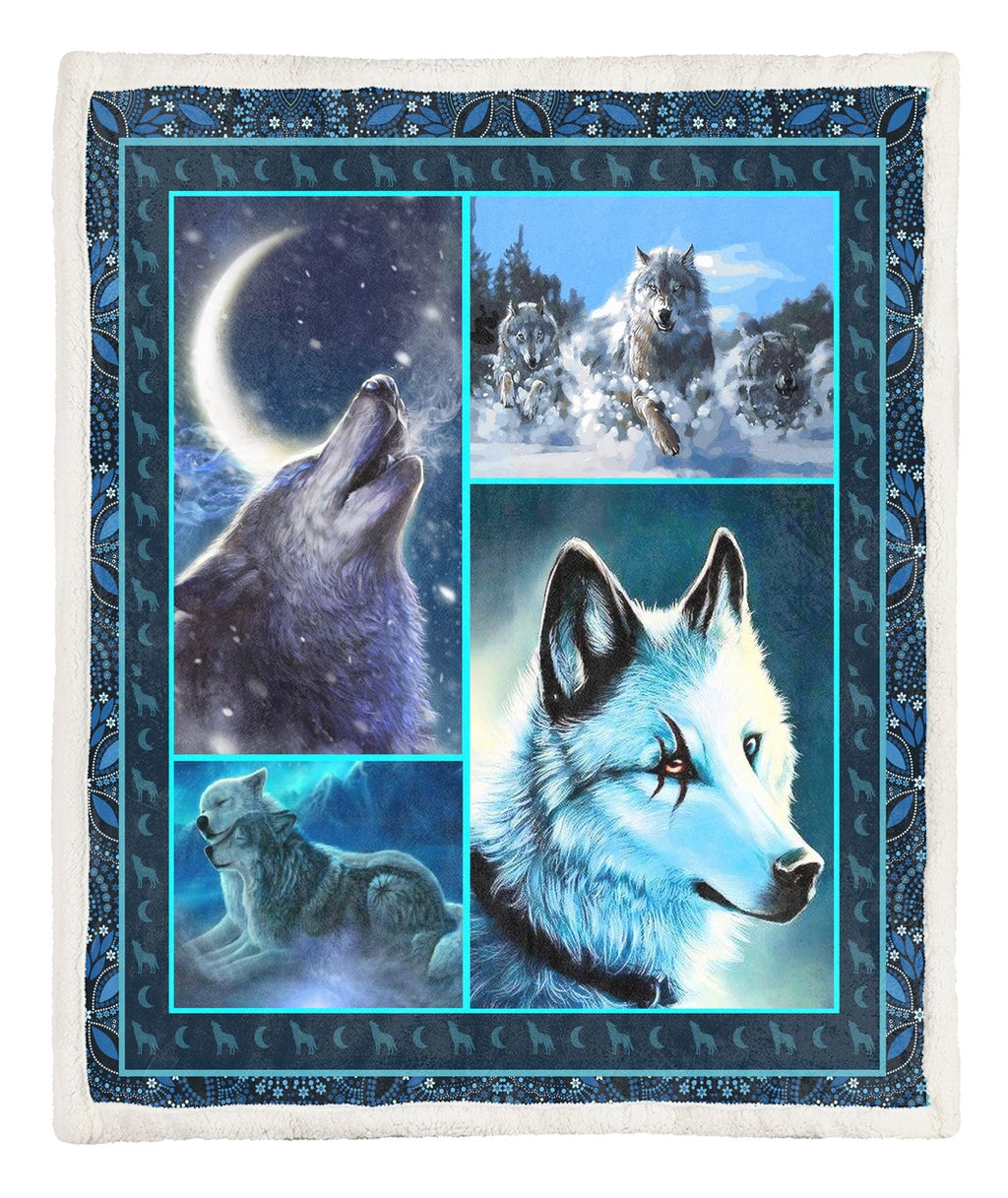 Wolf Throw Blanket TABTVH16101260