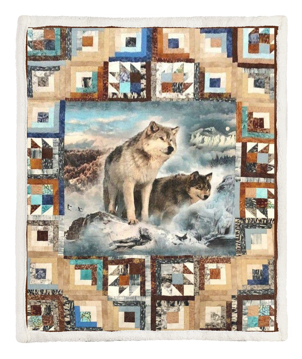 Wolf Throw Blanket TABLML231001VT