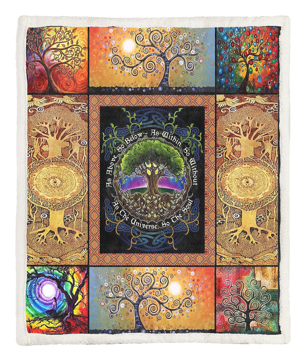 Tree Of Life Throw Blanket TABTVH1410250