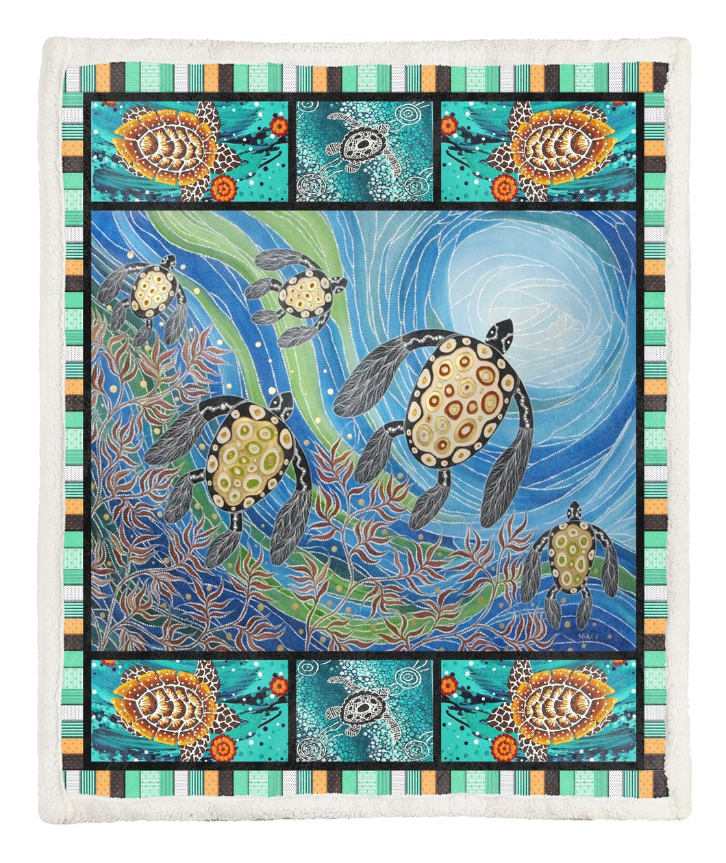Turtle Throw Blanket TABCCC19103879