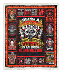 60 Retired Firefighter Personalized Throw Blanket BBB030624SM