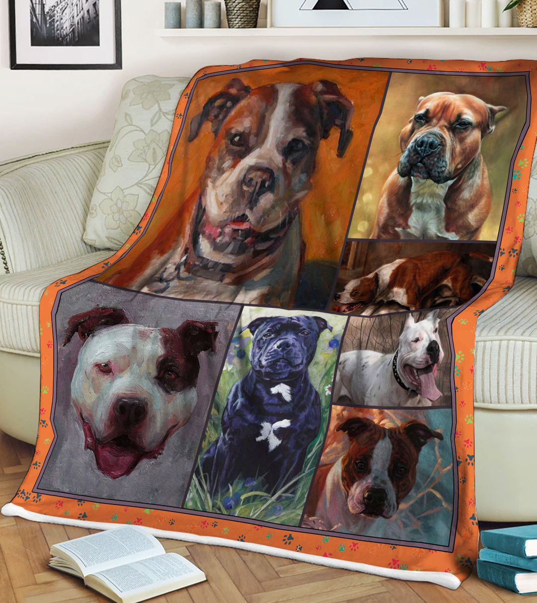 American Staffordshire Terrier Dog Fleece Blanket CCC19101418