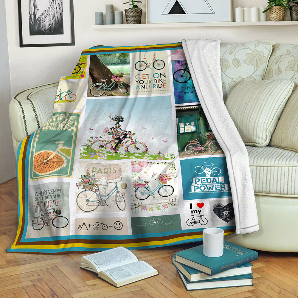 Bike TVH1610461 Fleece Blanket