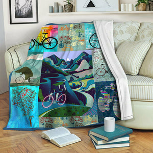 Bike TVH1610462 Fleece Blanket