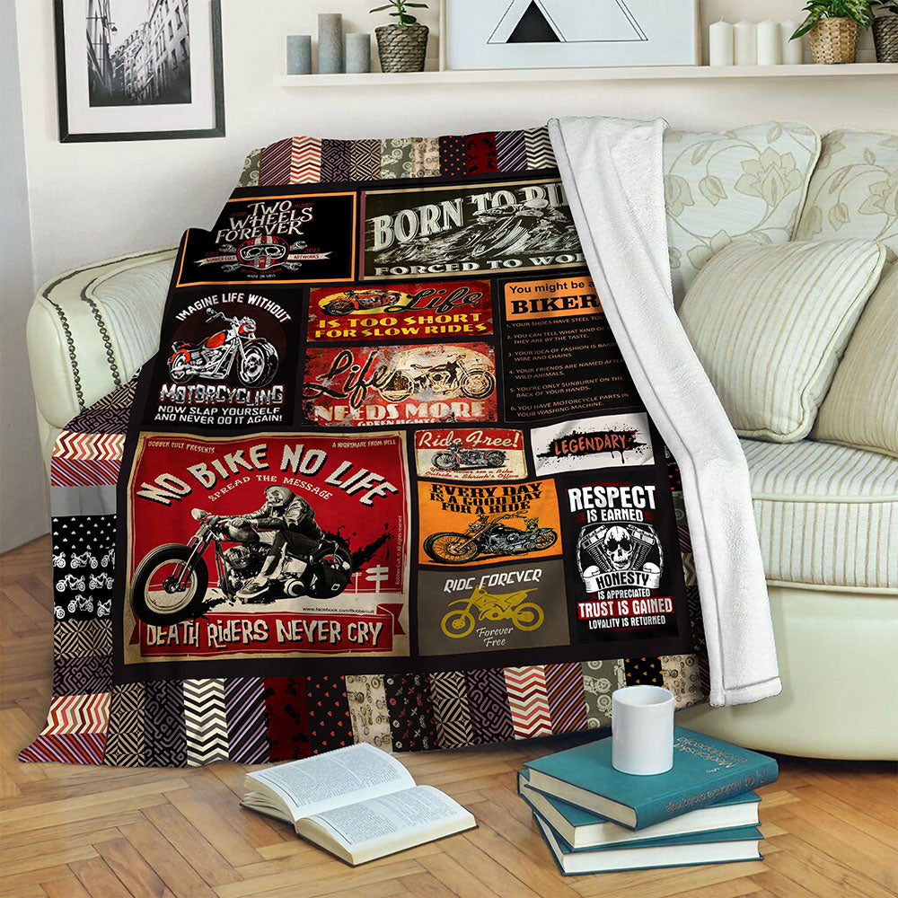 Biker Fleece Blanket CCC191010