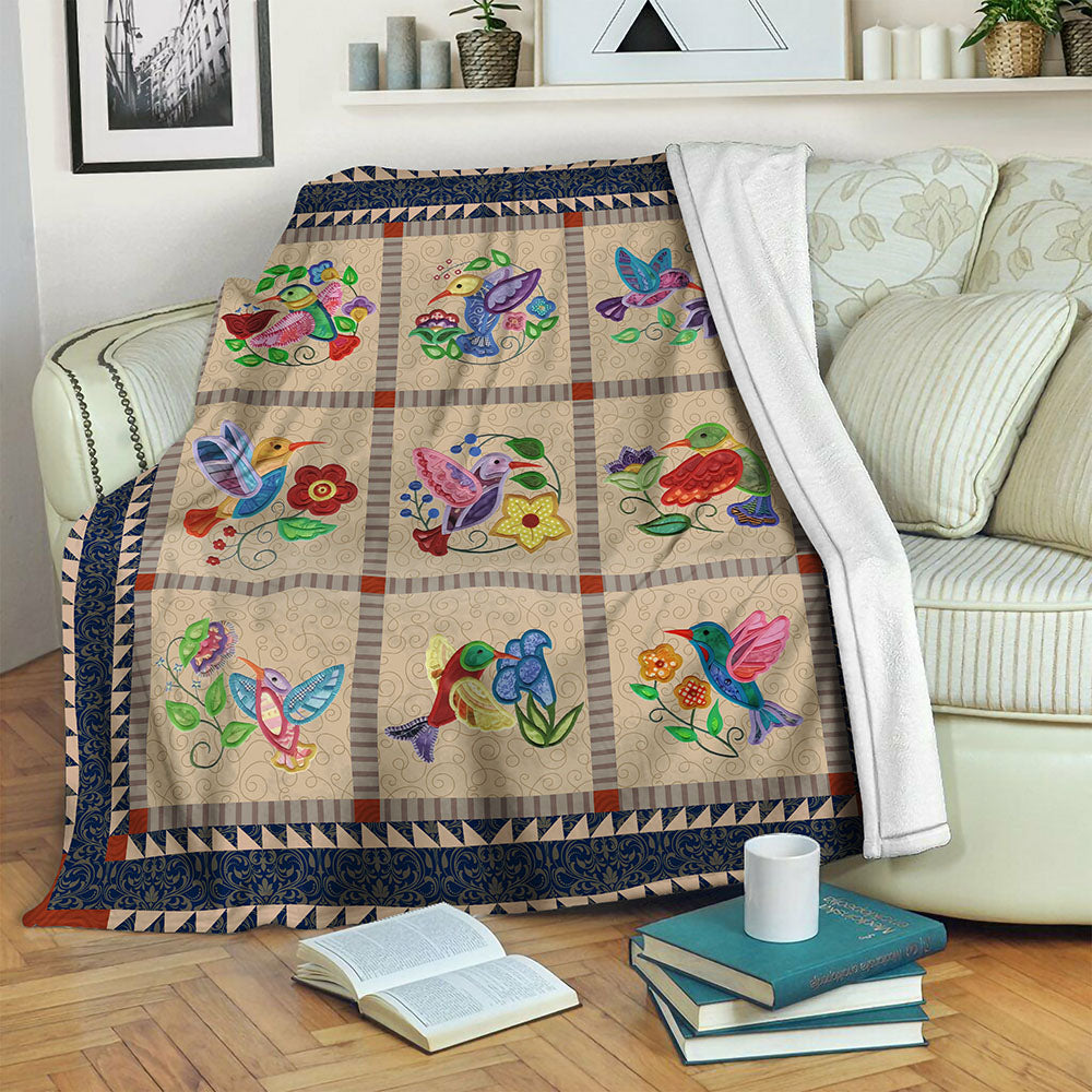 Bird Fleece Blanket CCC191011