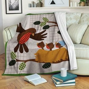 Bird Fleece Blanket CCC19103604