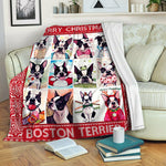 Boston Terrier TVH1610501 Fleece Blanket
