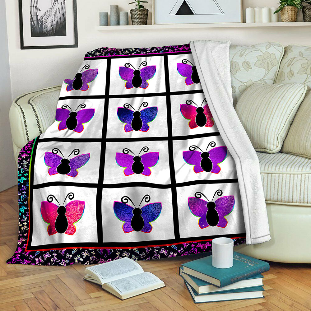 Butterfly Fleece Blanket CCC19103656