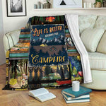 Camping B191066 Fleece Blanket