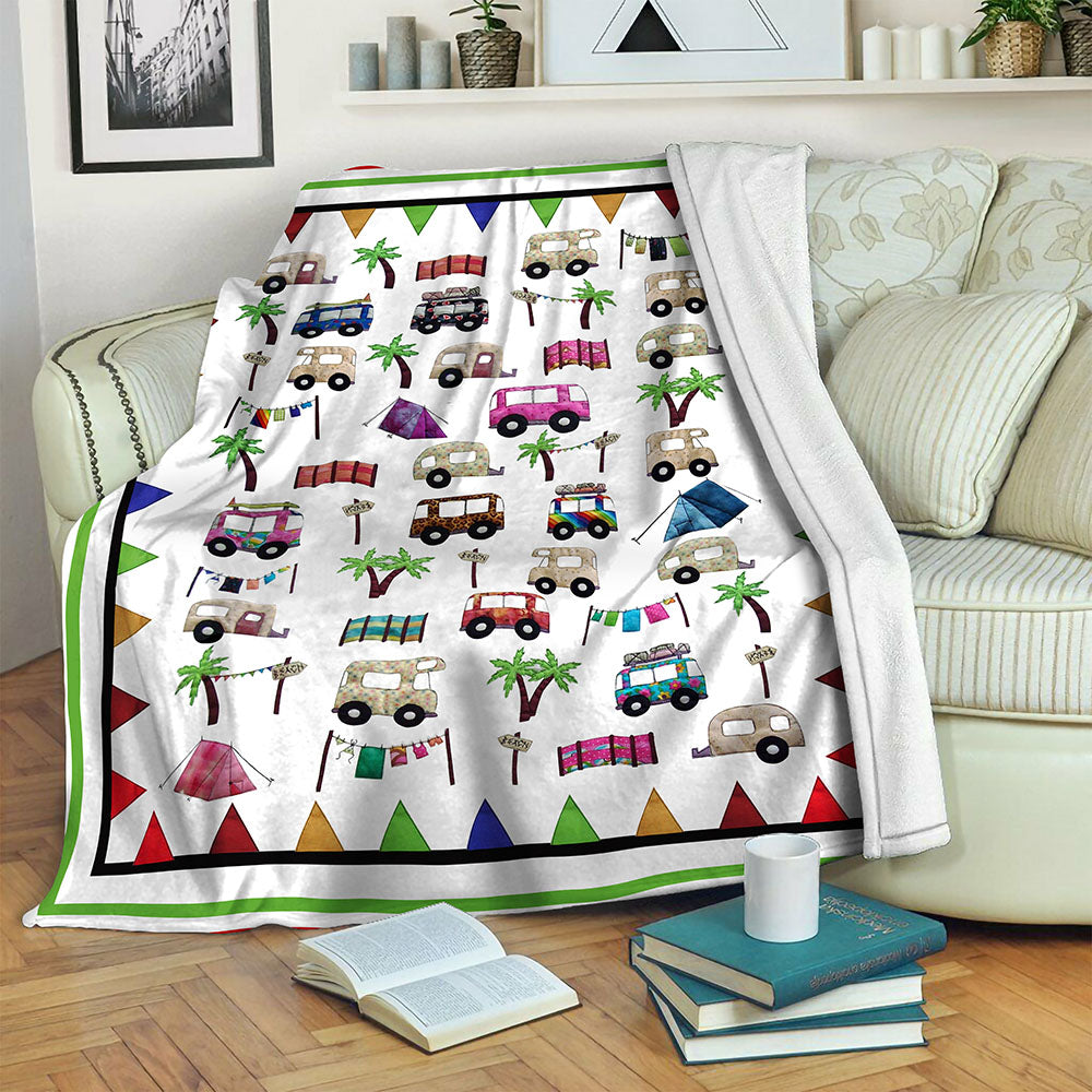 Camping Fleece Blanket CCC19102658