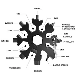 The Misugi - Stainless Steel Snowflakes Multi-Function Tool 18-in-1 - Nestzones
