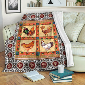 Chicken Fleece Blanket CCC19101714