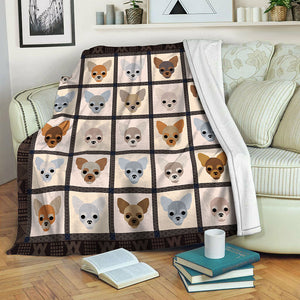 Chihuahua Fleece Blanket CCC19103749