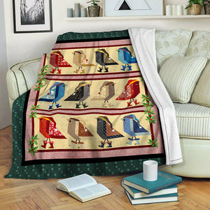 Christmas Bird Fleece Blanket CCC19103756