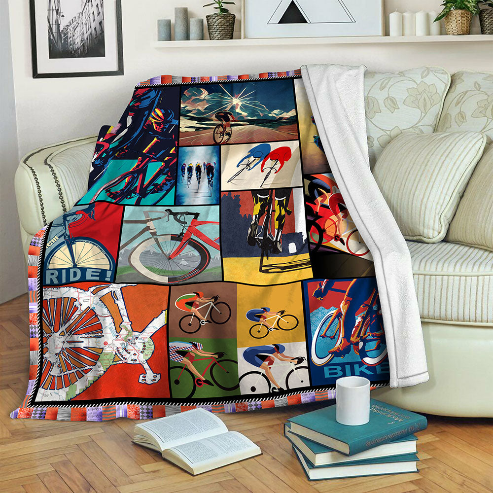 Cycling Fleece Blanket CCC191083