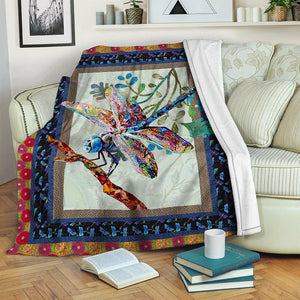 Dragonfly Fleece Blanket CCC19101765