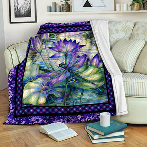 Dragonfly Fleece Blanket CCC1910590