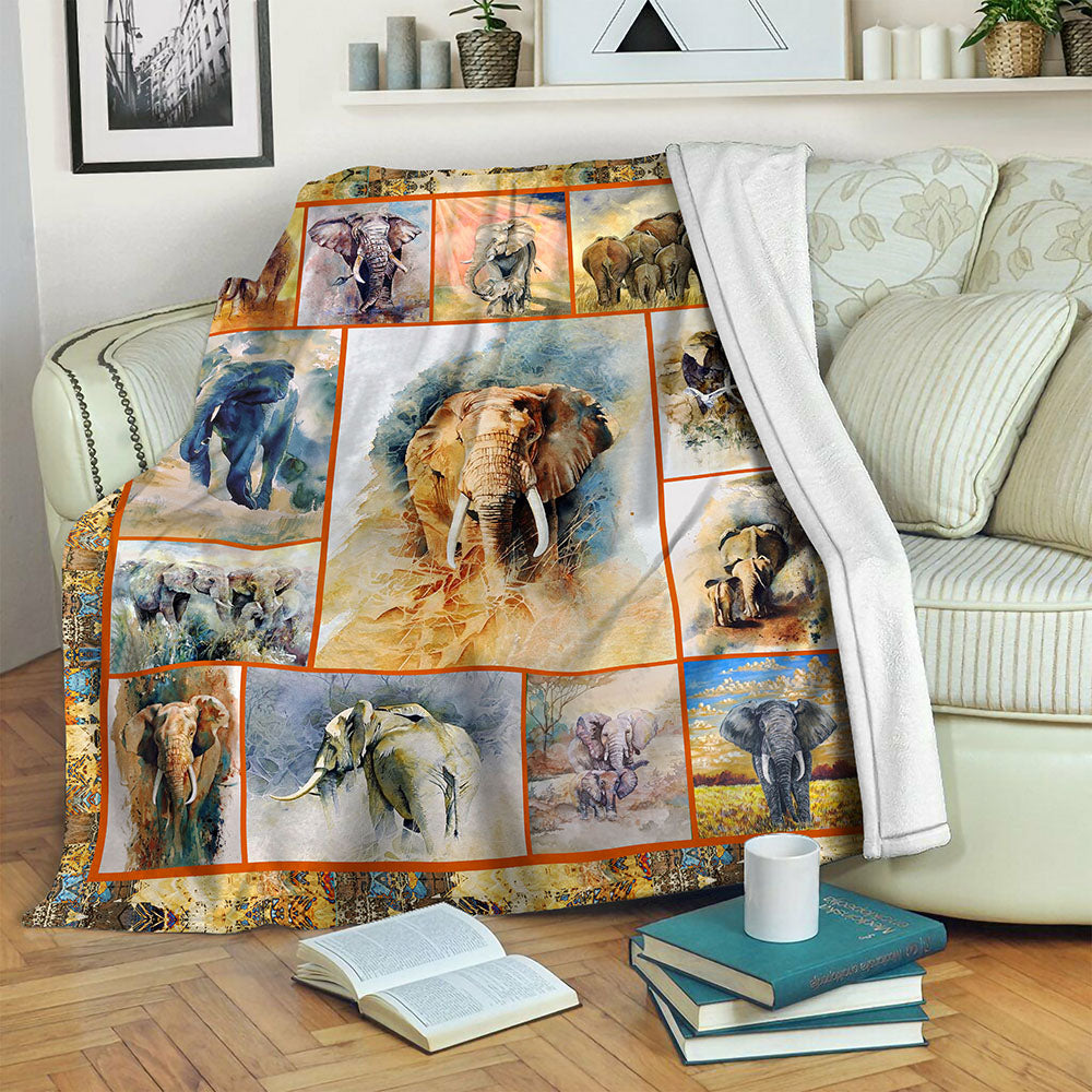 Elephant TVH1610864 Fleece Blanket