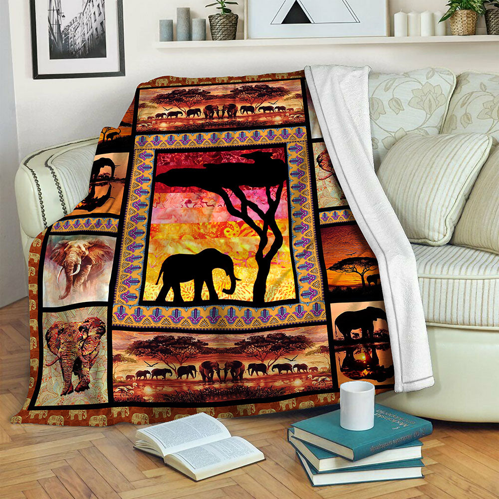 Elephant TVH1610868 Fleece Blanket