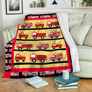 Firetruck TVH1610905 Fleece Blanket
