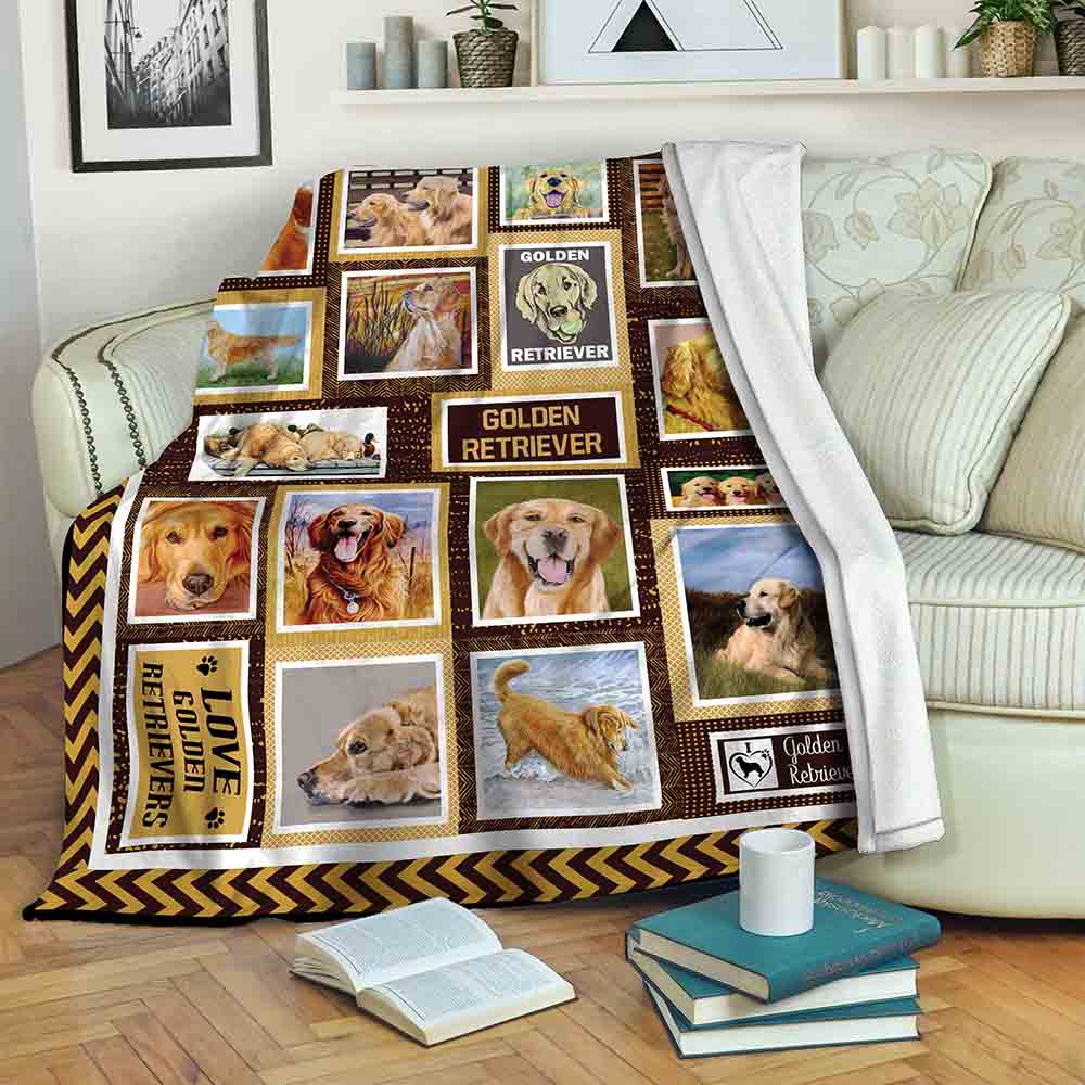 Golden Retriever B191078 Fleece Blanket