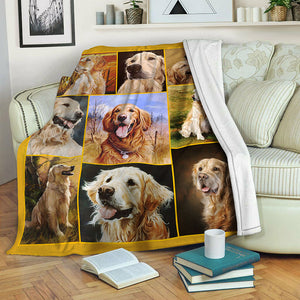 Golden Retriever TVH1610965 Fleece Blanket