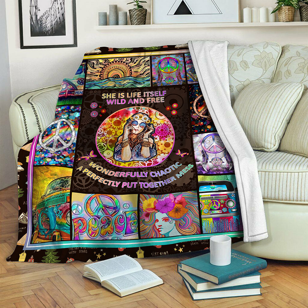 Hippie Fleece Blanket CCC19102922