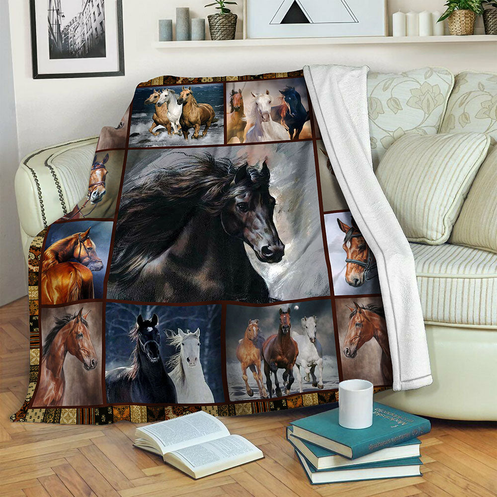 Horse Fleece Blanket CCC1910140