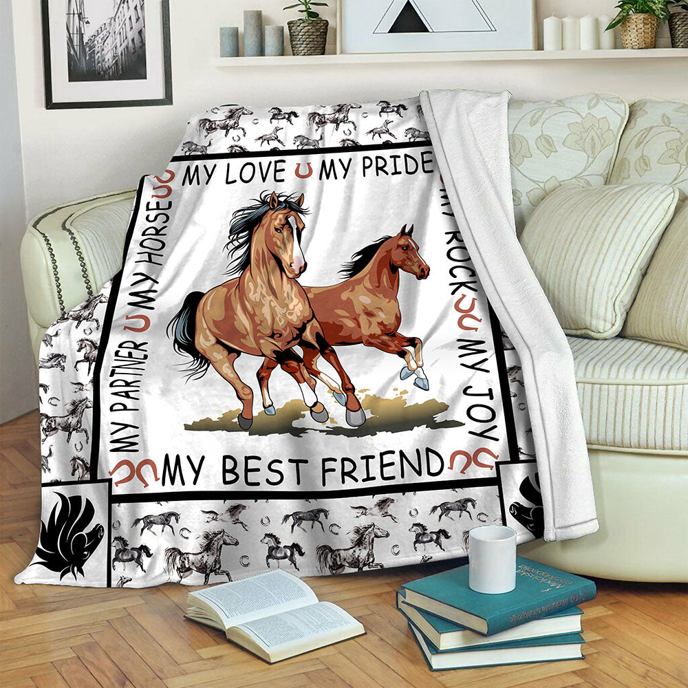Horse Fleece Blanket CCC19102934