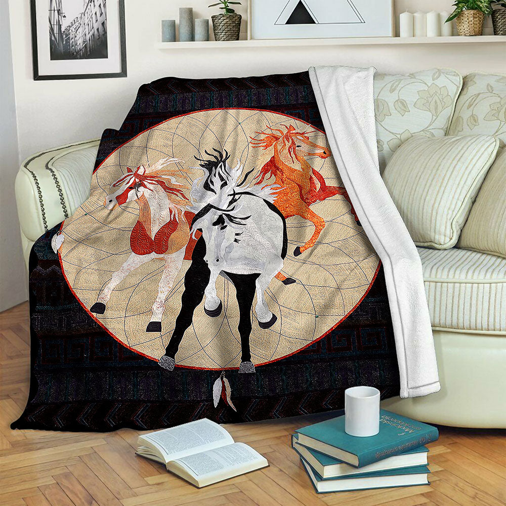 Horse Fleece Blanket CCC19102936