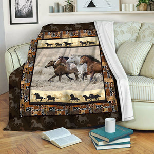 Horse TVH16101008 Fleece Blanket