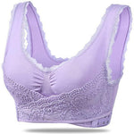 Seamless Lift Bra with Front Cross Side Buckle, Plus-Size Wirefree Lift Support Bra