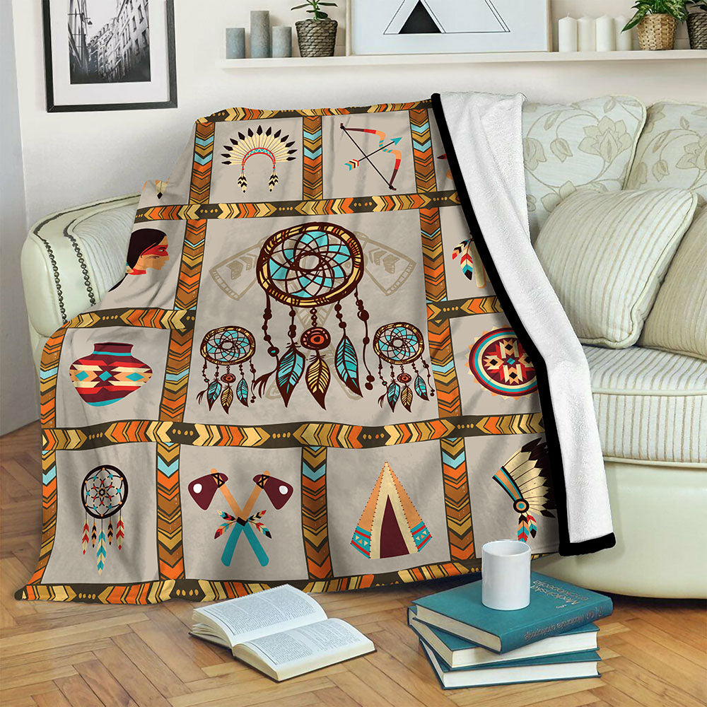 Native American Fleece Blanket CCC19102314
