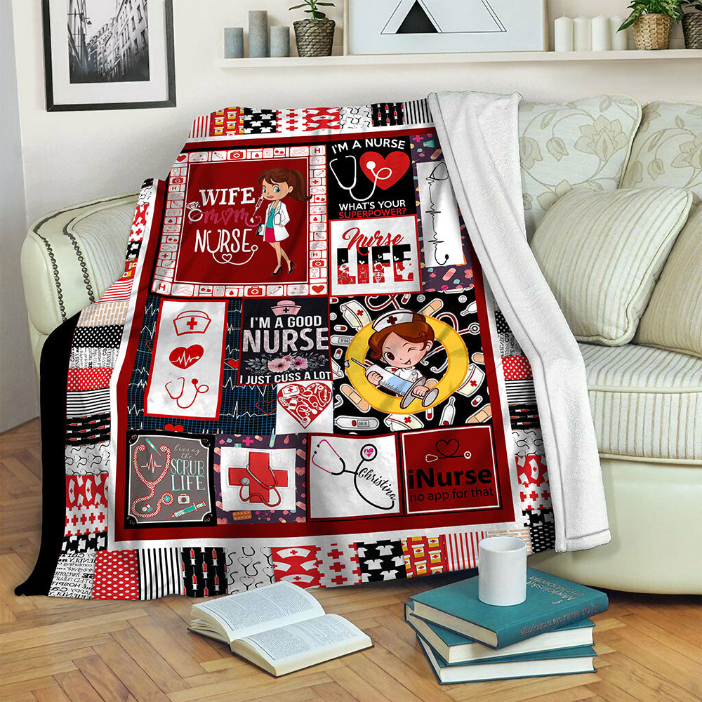 Nurse TVH16101064 Fleece Blanket