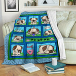 Pug Fleece Blanket CCC19101540