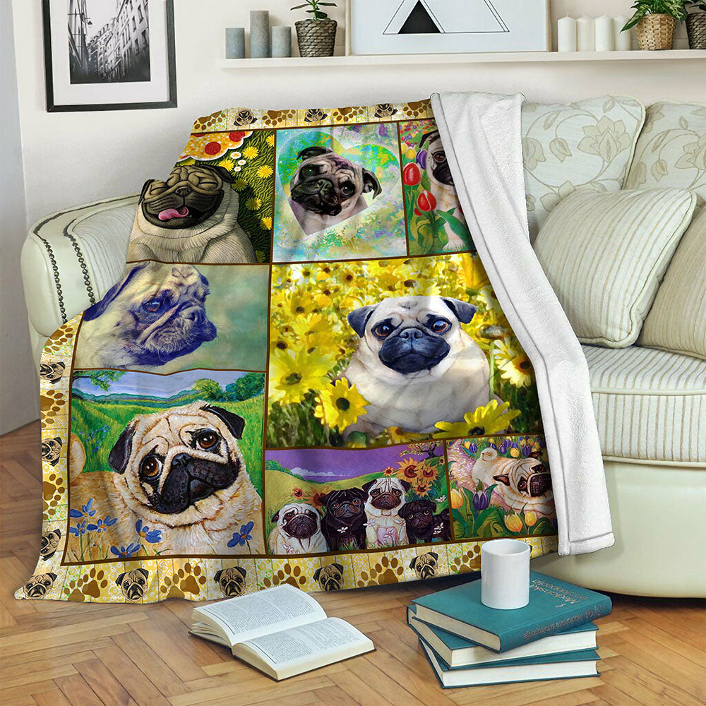 Pug Fleece Blanket CCC19103231