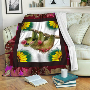 Sloth TVH16101179 Fleece Blanket