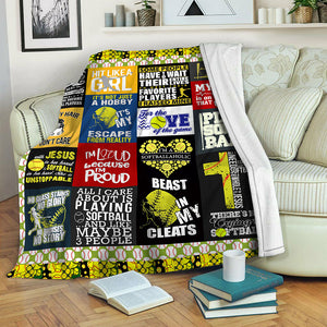 Softball TVH16101193 Fleece Blanket